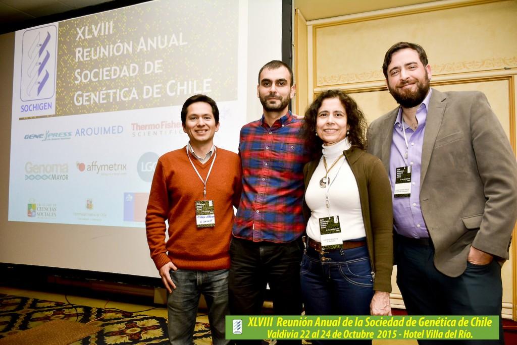 From right to left: Christopher Gignoux, PhD; Lucía Cifuentes, M.Sc; Georgios Athanasiadis, PhD; Ricardo Verdugo, PhD