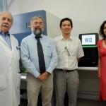 From left to right: Rafael Blanco, PhD, Human Genetic Program Director. Manuel Kukuljan, PhD, Faculty of Medicine Dean. Ricardo Verdugo, PhD, Fondequip Project EQM140157 Director. Lucía Cifuentes, M.Sc, Chilegenomico Project Director.